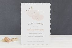 twinkling Foil-Pressed Baby Shower Invitations by Angela Garrick at minted.com