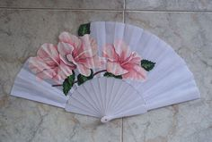Xia ~ fan ~ two Painted Fan, Fan Decoration, Umbrellas Parasols, Classic Paintings, Pretty Hands, Pink Purple, Vintage Items, Diy And Crafts, Hand Fans