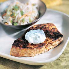 Tuna with Jalapeño Sour Cream
