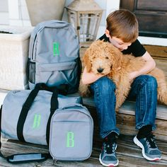 """Nylon backpack with front and side pockets and adjustable straps. 10 character limit.17.5"""" H x 5"""" W x 12"""" L"""
