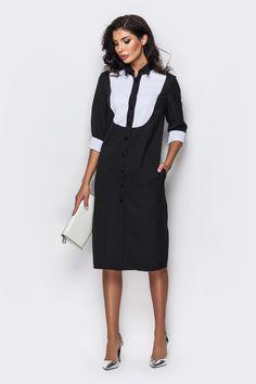 Контрастное платье миди 4036534, купить по цене 689 грн. в Киеве, Днепре, Одессе, Львове - интернет магазин Garne