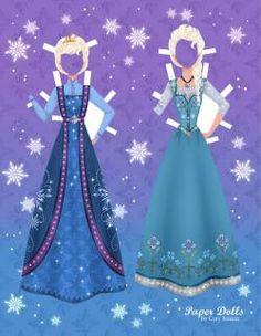 Disney's Frozen Paper Dolls | SKGaleana