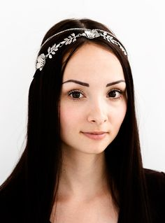 Tiaras – Elven circlet, antique headpiece, metal, necklace – a unique product by Arsiart on DaWanda
