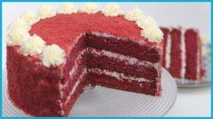 RED VELVET CAKE ricetta originale con cream cheese by ItalianCakes American Cake, Italian Cake, Unique Cakes, Cake Icing, Let Them Eat Cake, Cake Cookies, Tiramisu, Cheesecake, Bakery