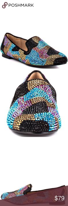 • Steve Madden • Multicolor Rhinestone Loafers Multicolor Rhinestone loafer, the rhinestones glisten so perfectly! Steve Madden Shoes Flats & Loafers