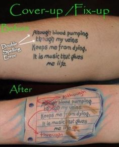 Possibly THE best tattoo cover-up ever! - 21 Unexpectedly Clever Tattoos That Will Actually Make You Laugh Clever Tattoos, Creative Tattoos, Worst Tattoos, Amazing Tattoos, Funny Tattoos Fails, Crazy Tattoos, Badass Tattoos, Messed Up Tattoos, Horrible Tattoos