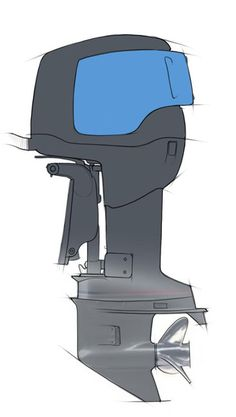 Outboard Sketch 06 - Main color block in.Sketchbook Pro Demo Work - Outboard Sketch by Jeff Smith at Coroflot.com