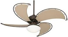 "Casa Vieja Cool Vista Opal Glass Ceiling Fan - 52"" Bronze"