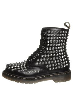 Martens Aimilita Y Black Mohawk Youth Ankle Boots Dr