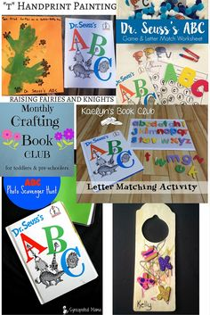 Monthly Crafting Book Club for March - Dr. Suess's ABC is the book this month for the #monthlycraftingbookclub, come see the crafts & activities to promote #childrensliteracy