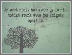 Afrikaanse Inspirerende Gedagtes & Wyshede: Jy weet nooit hoe sterk jy is nie, totdat sterk wees jou enigste opsie is. Truth Quotes, Quotable Quotes, Sad Quotes, Quotes To Live By, Inspirational Quotes, Inspire Quotes, Qoutes, Positive Thoughts, Positive Quotes