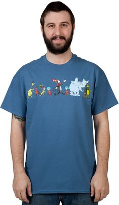 Characters Dr Seuss Shirt