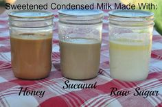 Homemade Sweetened Condensed Milk with Honey, Sucanat or Raw Sugar - Find the recipe at Cultured Palate: http://myculturedpalate.com/blog/2013/08/27/sweetened-condensed-milk-with-honey-sucanat-or-raw-sugar/