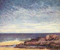 Bords de mer en Normandie, huile sur toile, 1867. Musée Pouchkine, Moscou.