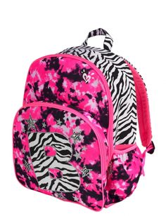 New Girls JUSTICE Backpack Bookbag School Bag Girls Zebra multi ...