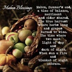 blessed mabon, happy equinox, happy first day of fall - Democratic Underground Mabon, Samhain, Harvest Moon, Fall Harvest, Holly King, Autumn Witch, Autumn Fall, Winter, Growth And Decay