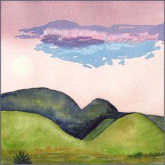 Lavender Dreams. 6 x 6 in. watercolor on Arches 140 lb. cold pressed paper. © 2017 Sheila Delgado