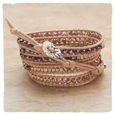 Tickled Pink Wrap Bracelet in Romance 2013 from Arhaus Jewels on shop.CatalogSpree.com, my personal digital mall.