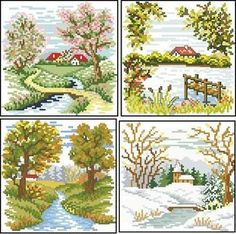 Cross Stitch House, Cross Stitch Angels, Butterfly Cross Stitch, Cross Stitch Tree, Cross Stitch Needles, Cross Stitch Alphabet, Cross Stitch Flowers, Counted Cross Stitch Patterns, Cross Stitch Designs