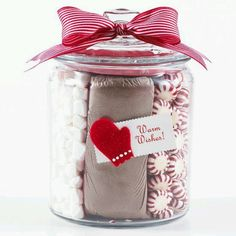 Hot Cocoa in a jar.