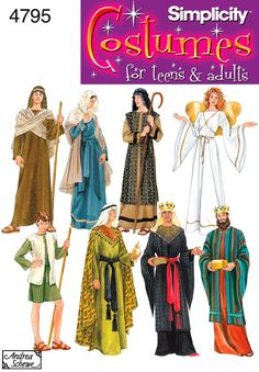 Womens, Mens or Teens Nativity Costume Sewing Pattern 4795 Simplicity--Perfect for a life size nativity scene <3