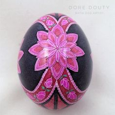 Gallery – Dore Douty Ukrainian Easter Eggs, Ukrainian Art, Easter Projects, Easter Crafts, Harmony Rose, Painted Rocks, Hand Painted, Fabric Balls, Faberge Eggs