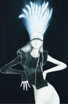 Ingenue Fashion Sketches - The Masaki Mizuno 'Paper Dolls' Series Features Avant-Garde Gamines (GALLERY)