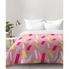 DENY Designs Allyson Johnson Confetti Party Comforter (160 CAD) ❤ liked on Polyvore featuring home, bed & bath, bedding, comforters, deny designs bedding, lightweight comforter, machine washable comforter, lightweight bedding and polyester comforter