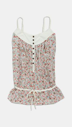 Off-White & Pink Floral Button-Up Top
