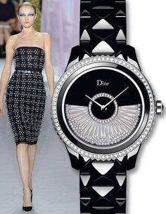 Dior VIII Grand Bal Drape Watch - Runway Watches 2013 - Town & Country Magazine