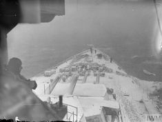 HMS King George V at sea in Arctic waters, February 1943