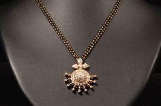indian Diamond jewellery | Simple and cute diamond Mangalsutra designs from Vasundhara Jewellers ...