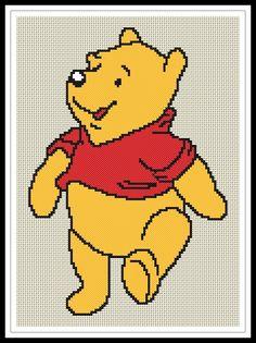 Gráfico para punto de cruz de Pooh3.