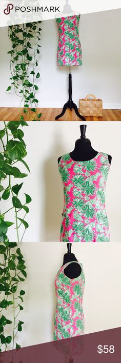 Lily Pulitzer dress pink and green Gorgeous dress perfect condition!!! Pink and green flowers all over convenient pockets on front of dress on both sides!! Zips up the back. Perfect for up coming holidays!!!🌿🌿🌸🌸                          Size✨6 Material✨100% cotton Measurements✨ Bust 17 1/2 inches Waste 16 1/2 inches Hip 19 inches Bottom hem 19 1/2 inches Full length 33 inches Condition✨ perfect! Hand Wash💦 cold do not bleach!  No trades💔No holds💔No paypals💔 Smoke Free✅Pet Free Home✅…