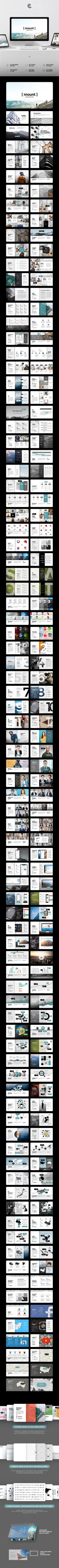 Buy Mount Keynote by alitolama on GraphicRiver. Amazing Features 175 unique multipurpose slides 10 pre-made color templates 50 master slides 1750 slides in total Ver. Keynote Presentation, Presentation Slides, Business Presentation, Presentation Design, Presentation Templates, Mise En Page Web, Web Design, Creative Design, Design Ideas