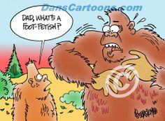Bigfoot Cartoon 12 | CARTOONS | CUSTOM ILLUSTRATIONS