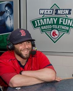The Jimmy Fund man of the hour! Dustin Pedroia, Boston Strong, Boston Red Sox, Baseball Cards, Fun, Play, Funny