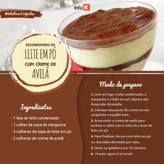 Essas e muito mais receitas de sobremesas deliciosas nos cursos eduK: http://scup.it/dhsc