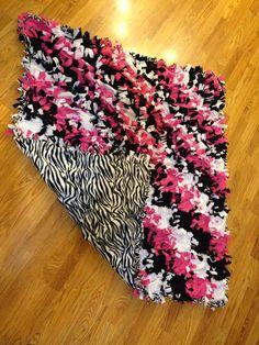 No sew fleece tie quilt