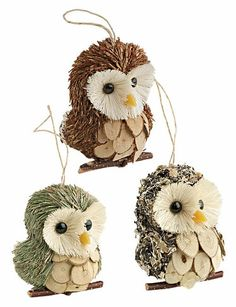 Owl Ornaments, at Gardener's Supply Company