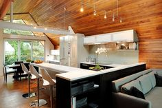 Kitchen by COOP15, an architecture firm out of Seattle.  From Desire to Inspire blog.  First wood interior I've really loved.