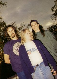 Krist, Kurt and Dave, London, 1991