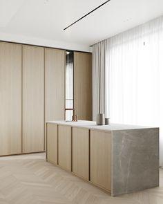 this is perfect . Interior Desing, Interior Design Kitchen, Interior Design Inspiration, Kitchen Decor, Layout Design, Hidden Kitchen, Beautiful Houses Interior, Minimalist Kitchen, Cuisines Design