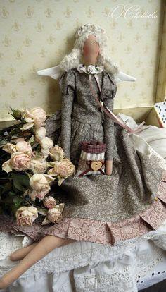 Куклы Тильды ручной работы. Ярмарка Мастеров - ручная работа Фея утреннего латте. Handmade.
