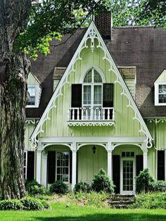 Victorian Architecture, Beautiful Architecture, Beautiful Buildings, Architecture Details, Beautiful Homes, Style Cottage, Cottage Homes, Cute Cottage, Victorian Cottage