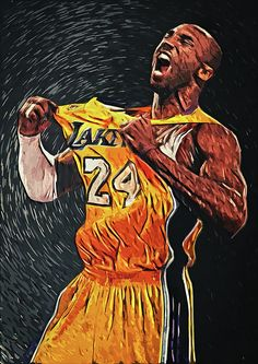 Shop for nba art from the world's greatest living artists. All nba artwork ships within 48 hours and includes a money-back guarantee. Choose your favorite nba designs and purchase them as wall art, home decor, phone cases, tote bags, and more! Kobe Bryant Family, Lakers Kobe Bryant, Basketball Art, Basketball Players, Bryant Basketball, Nba Players, Lebron James, Foto Sport, Kobe Bryant Pictures