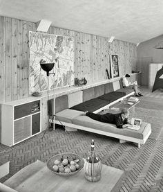 April 10, 1952. Jose L. Sert, residence at Lattingtown Harbor Estates, Locust Valley, Long Island, New York. Photo by Sam Gottscho