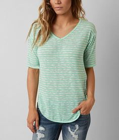 5006911e43bc8 H.I.P. Striped Top - Women s Shirts Blouses in Tortuga Green