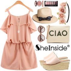 Sheinside by oshint on Polyvore featuring Banana Republic, With Love From CA, Charlotte Russe, Valentino and Charlotte Tilbury