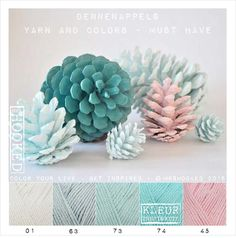 Kleurinspiratie Dennenappels / Yarn and Colors - must have Colour Pallete, Colour Schemes, Color Palettes, Yarn Color Combinations, Colours That Go Together, Color Palette Challenge, Yarn Bombing, Color Balance, Design Seeds